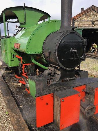 Threlkeld, UK: Narrow gauge steam engine