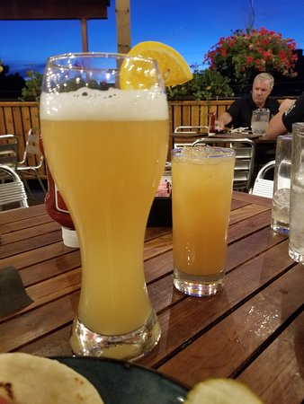 Steamworks Brewing Co: Belgian Wit & seconds on the Rum drink