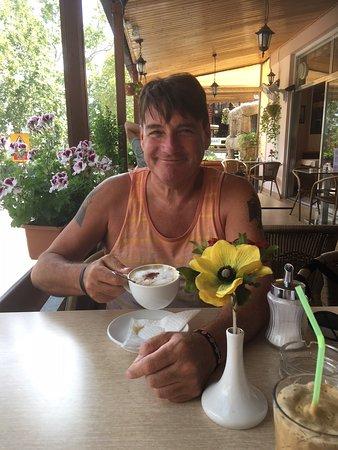 Pano Platres, Cyprus: Loving the Cappuccino....