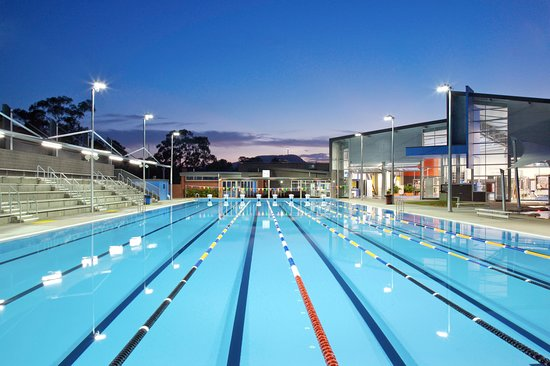 Murwillumbah, Australia: Our 50m pool under lights
