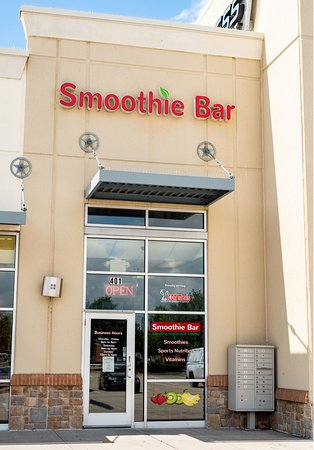 Little Elm, تكساس: Exterior of Smoothie Bar and More, Little Elm, Texas