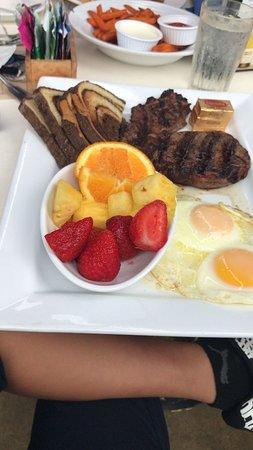 The Cliff Restaurant Best Breakfast Rib Eye Steak