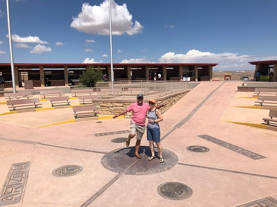 ‪‪Four Corners Monument‬: Peggy and I in four states.‬
