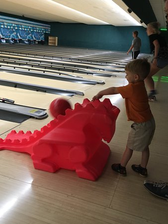 Franklin, IN: There are plenty of these to help little ones have fun bowling.