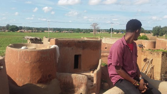 on tup of one of the chief palace buildings at Tiebele