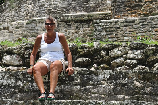 Sitting on the wall of The Mask Temple