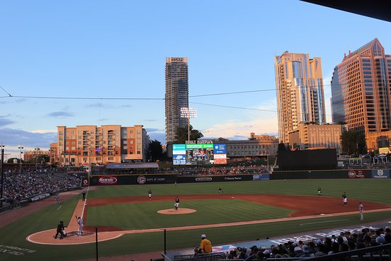 BB&T Ballpark: View from behind home plate