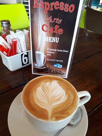 Volksrust, Republika Południowej Afryki: Excellent cappuccino