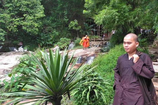 3 horas de caminhada de ida e volta na Monk Trail até Wat Doi Suthep...
