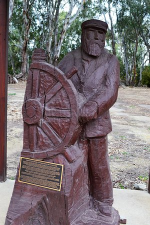 One of the many carved wood statues in Koondrook