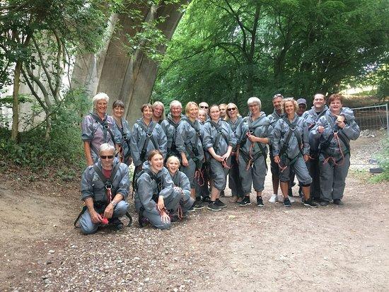 Bridgewalking Lillebælt: 20 Personer/vores gruppe.