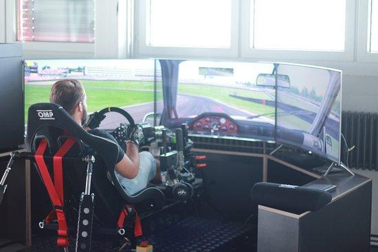 Horgen, Switzerland: Wir bieten auch 2 selbstentwickelte Motion-Simulatoren an - Fun Faktor garantiert!