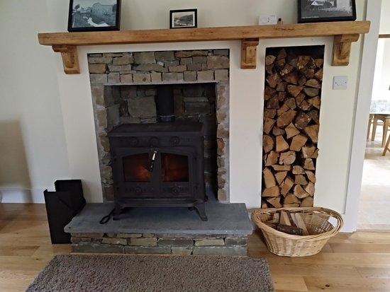 Borris, أيرلندا: La chimenea del cuarto de estar.