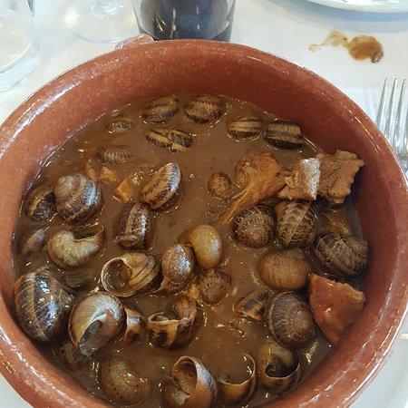 Prats de Llucanes, إسبانيا: Caracoles guisados