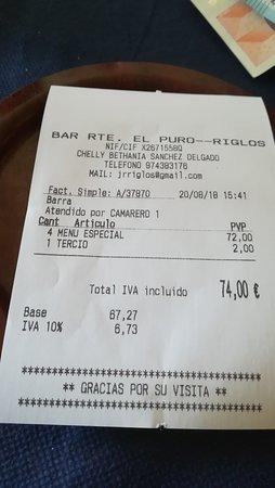 Riglos, Spagna: Cuenta