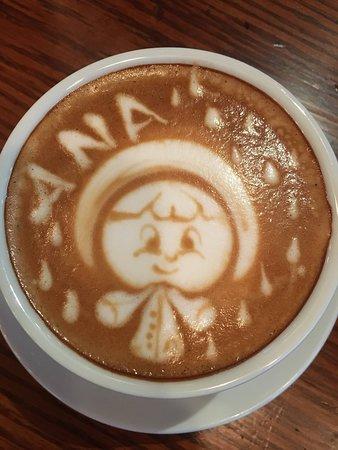 Chappaqua, NY: Skim milk latte for my wife - brilliant work