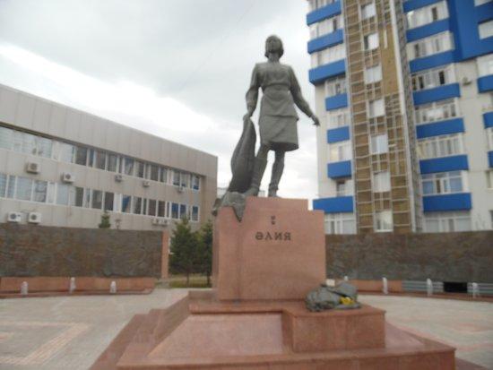 Nur-Sultan, Kazachstan: aliya statue