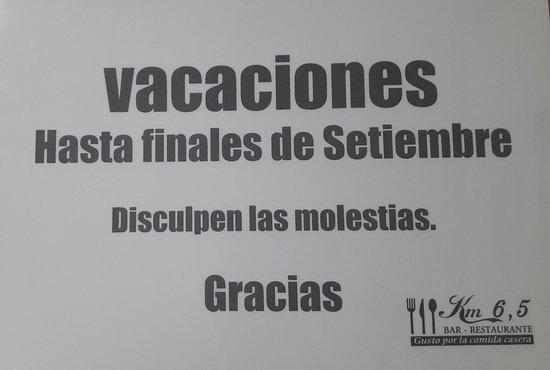 Fraga, Испания: Bar-Restaurante KM 6.5