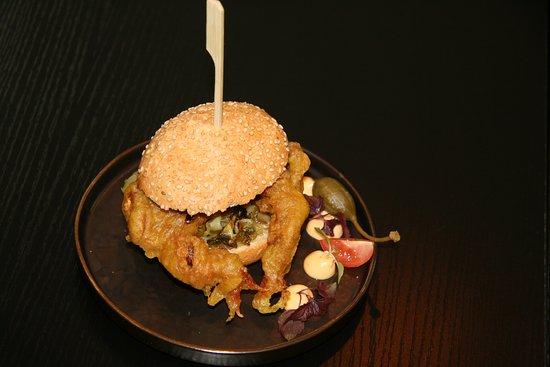 crab burger /chipotle/shoftshell crab