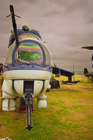 Midland Air Museum: I love the gun at the front