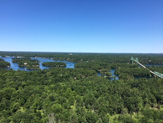 1000 Islands view from Tower.