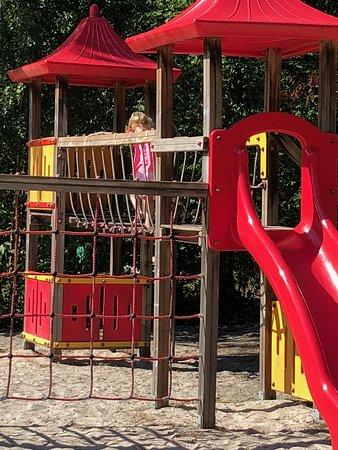Hoogersmilde, เนเธอร์แลนด์: Onze dochter in 1 van de speeltuinen op het park