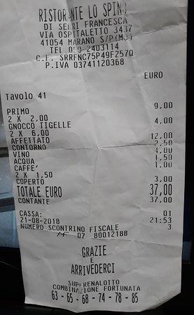 Marano sul Panaro, إيطاليا: conto