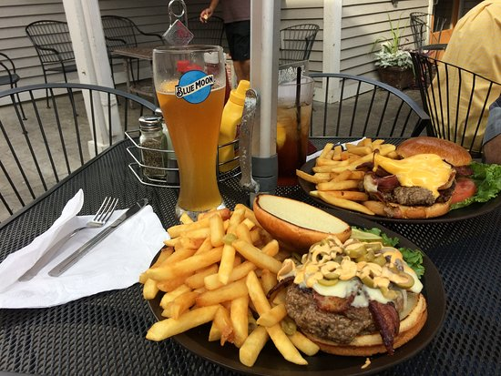 Great burger and beer during Cary Days celebration!
