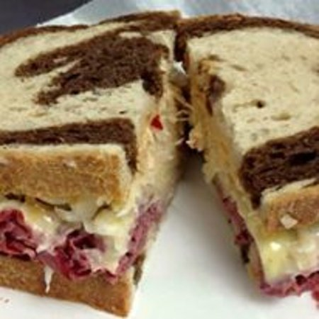 Williamsport, MD: Reuben- marble rye bread, the finest corn beef, house made Russian dressing and kraut