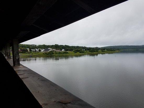 Toward Hartland, on a rainy day