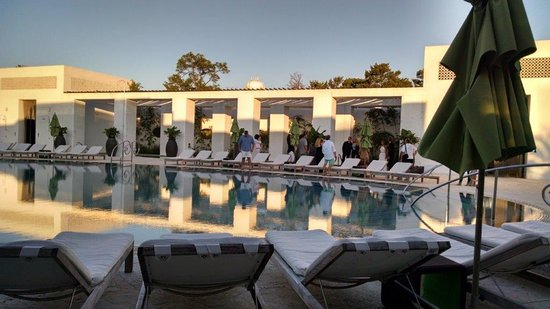 Pool At Dusk Picture Of Caliza Restaurant Alys Beach Tripadvisor