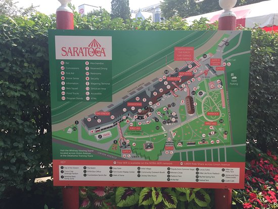 Map/Sign at Entrance - Picture of Saratoga Race Course ... on saratoga city map, saratoga harness track map, saratoga racecourse map, lake george map, saratoga seating chart, saratoga library map, saratoga new york map, saratoga racetrack, baltimore map, saratoga lake map, six flags map, lake placid map, yankee stadium map, saratoga hospital map, saratoga state park map, fishing map, barber motorsports park track map, saratoga racino map, adirondack mountains map,