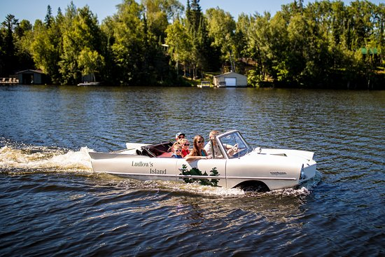 Cook, MN: Rides in our amphibious car - part of our kids' activity program!