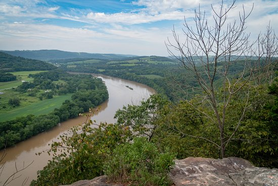 Wyalusing, เพนซิลเวเนีย: View from the Rocks looking west