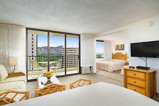 Aston at the Waikiki Banyan - 2 Bedroom Partial Ocean View