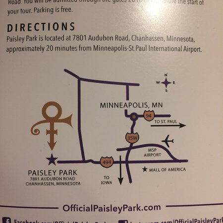 trifold pamphlet picture of paisley park chanhassen tripadvisor