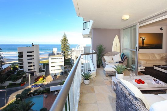Surfers Beachside Holiday Apartments 1 Bedroom Superior Apartment Balcony Views