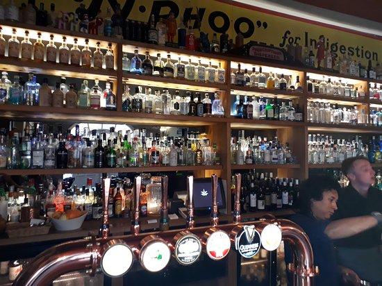 The Pump House: Rows of Gin bottles