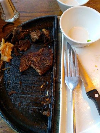 Steak like tough boots. Inedible