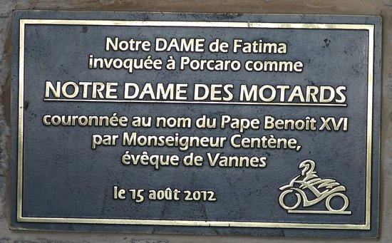 Porcaro, Frankrijk: Plaque d'invocation papale