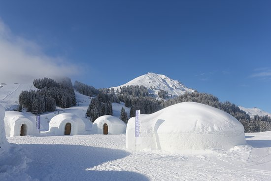 Brixen im Thale, Österrike: Blick auf´s Igludorf