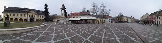 Panorama of Szechenyi Square in the winter