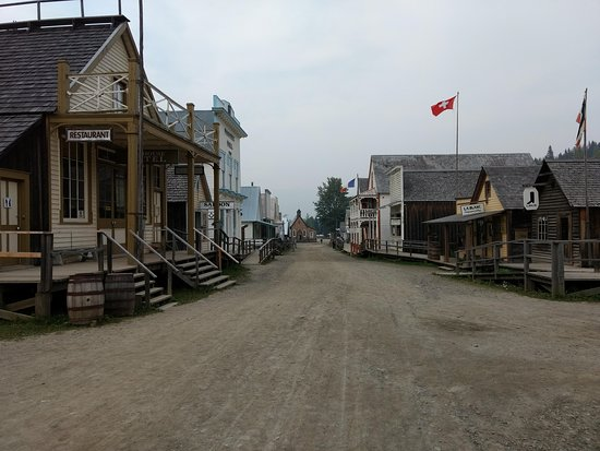 The main road through Barkerville Historic Town.