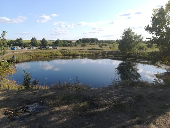 Samara Oblast, Russie: Голубое озеро, почти круглое