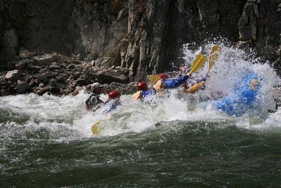 Payette River Company Day Trips: One of the many class III and IV rapids