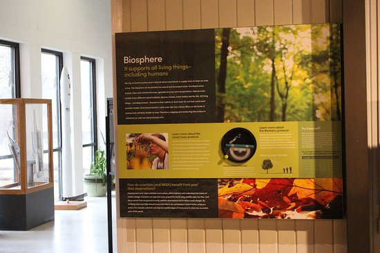 Wallops Island, VA: Part of the GLOBE exhibit recently installed in the Visitor Center Exhibit Hall.