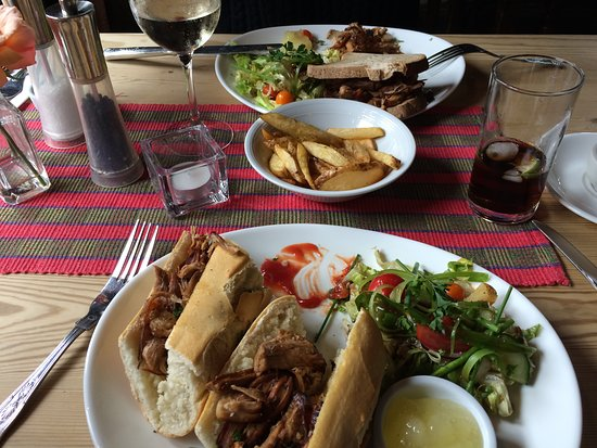Westbere, UK: Pulled Pork Baguette plus Gluten Free equivalent
