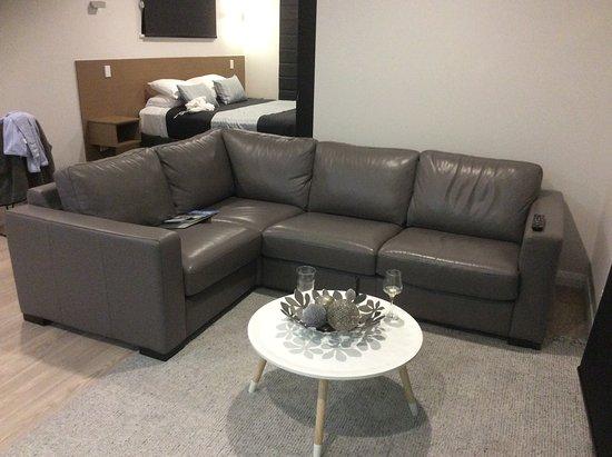 ดอลฟินลอดจ์: Lovely leather lounge suite