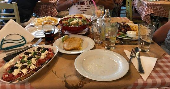 Mirthios, Greece: Te veel lekker eten