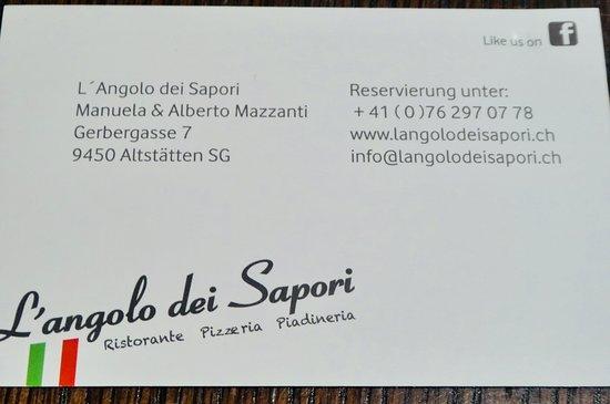 Altstatten, สวิตเซอร์แลนด์: L'Angolo dei Sapori, Altstätten SG